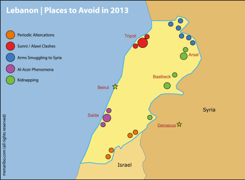 Places to avoid 2013