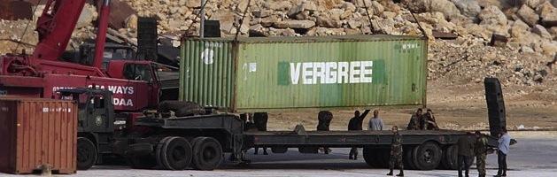 Weapons cargo in tripoli port
