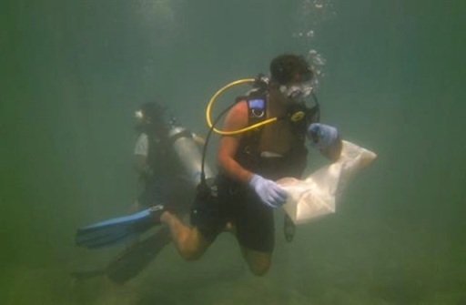 Underwater clean up