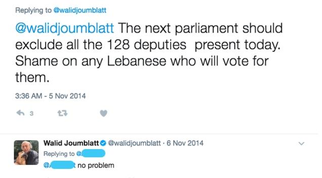 Joumblatt Twitter